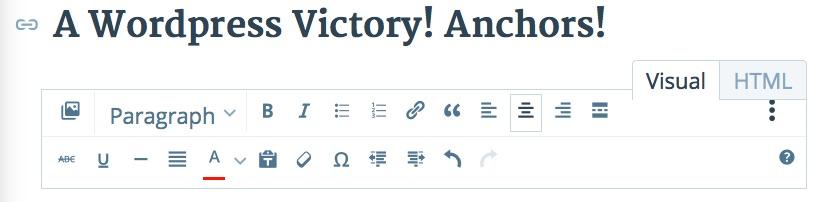 anchor text html tab