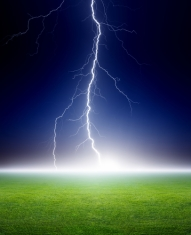 Lightning, green field
