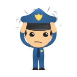 funny cartoon policeman