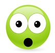Alarmed green smiley
