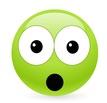 Alarmed green smiley