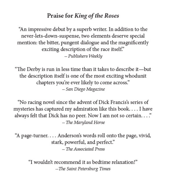 Praise for King of the Roses