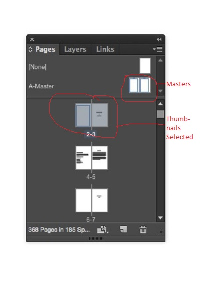 Pages Panel annotated