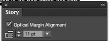 InDesign Optical Margin Alignment