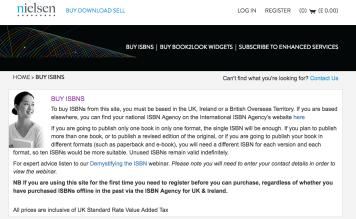 Nielsen ISBN Store UK