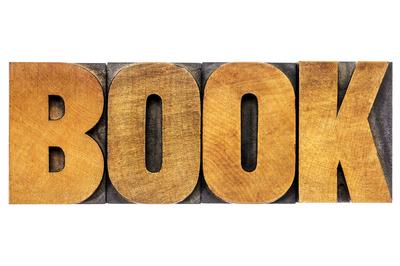 "Big word ""book"" in ""letterpress."""