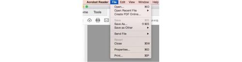 adobe file properties padded