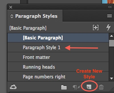 Paragraph Styles Panel new